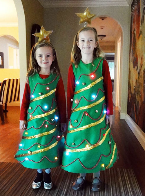 10-Home-made-Christmas-Tree-Costume-Ideas-For-Girls-Kids-2014-7