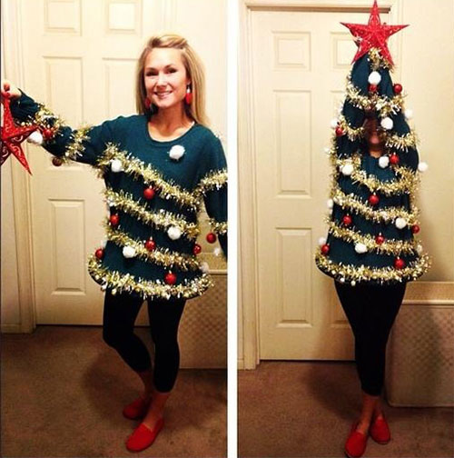 10-Home-made-Christmas-Tree-Costume-Ideas-For-Girls-Kids-2014-8