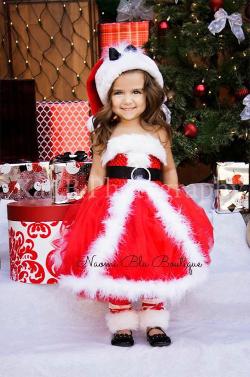 15-Best-Santa-Tree-Dresses-For-Kids-Girls- - 15 Best Santa & Tree Dresses For Kids & Girls 2014 Xmas Outfits
