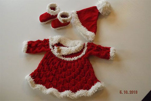 Knitting Pattern Baby Santa Hat : 15 Christmas Outfits For Babies & Kids 2014 Xmas Dresses ...