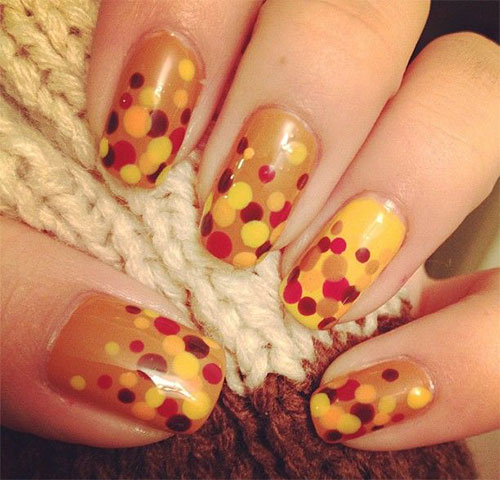 15+ Easy Thanksgiving Nail Art Designs, Ideas, Trends & Stickers 2014
