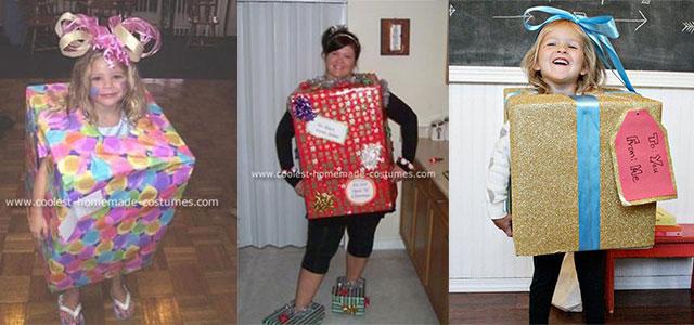 Creative & Home-made Christmas Present Costume Ideas For Kids & Girls 2014 - Creative & Home-made Christmas Present Costume Ideas For Kids