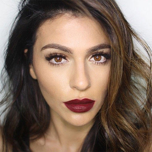 10-Winter-Make-Up-Looks-Ideen-Für-Brown-Eyes-Dark-Lips-2015-5