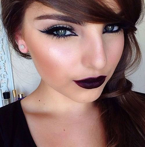 10-Winter-Make-Up-Looks-Ideen-Für-Brown-Eyes-Dark-Lips-2015-6