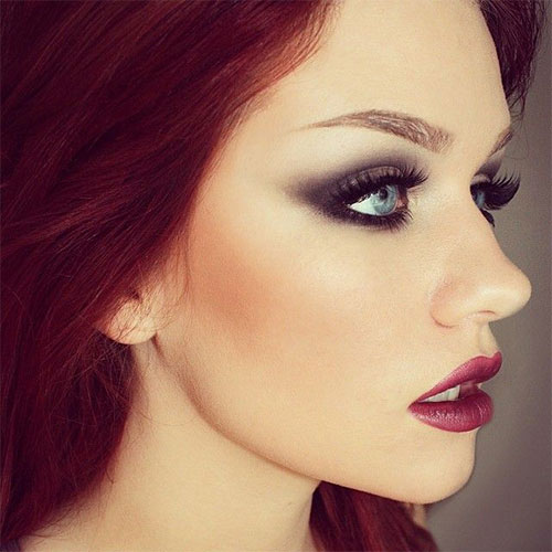 10-Winter-Make-Up-Looks-Ideen-für-Brown-Eyes-Dark-Lips-2015-8