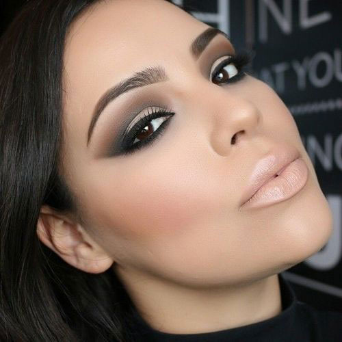 10-Winter-Make-Up-Looks-Ideas-For-Brown-Eyes-Dark-Lips-2015-9