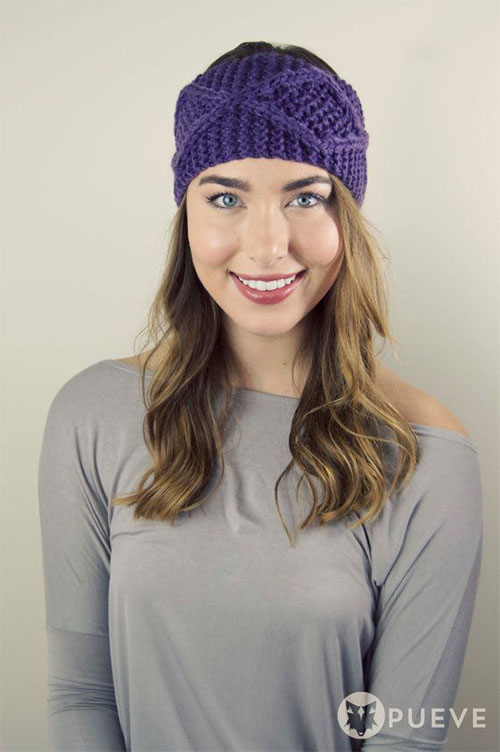 21 cool winter knit pattern braided bow headbands for women