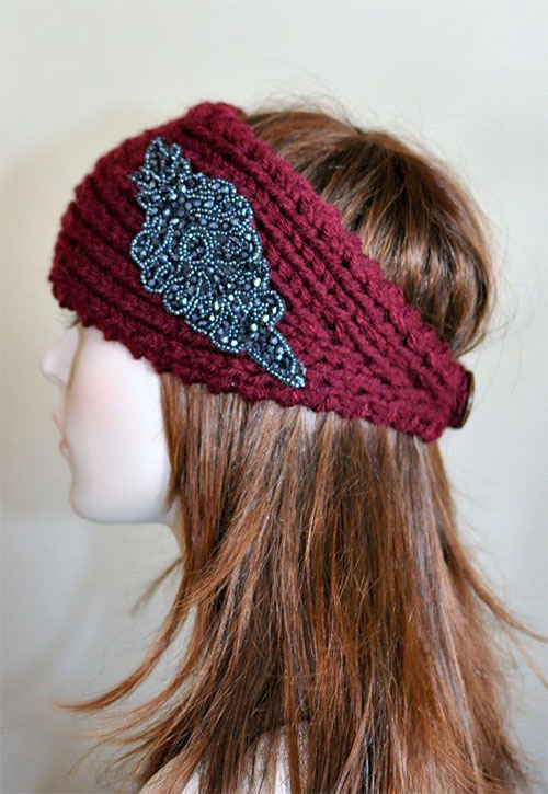 21-Cool-Winter-Knit-Pattern-Braided-Bow-Headbands-For-Women-2014-2015-11