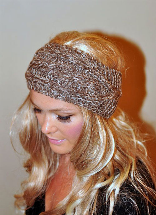 21 Cool Winter Knit Pattern Braided Amp Bow Headbands For