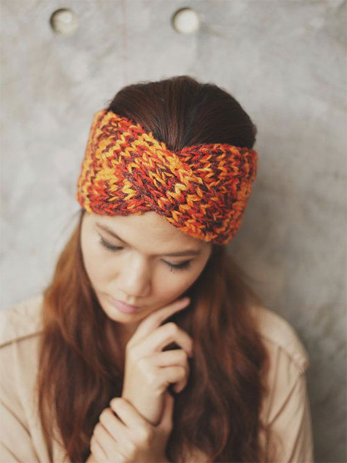 21+ Cool Winter Knit, Pattern, Braided & Bow Headbands For Women 2014/ 20...