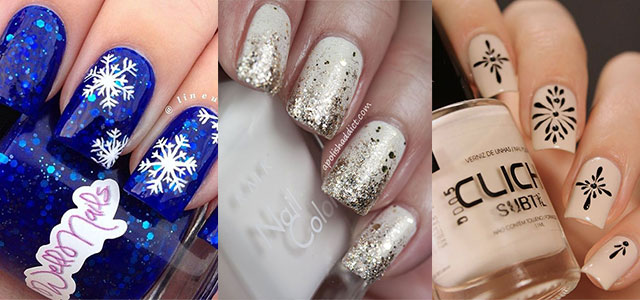 15 Simple Winter Nail Art Designs, Ideas, Trends & Stickers 2015 - 15 Simple Winter Nail Art Designs, Ideas, Trends & Stickers 2015