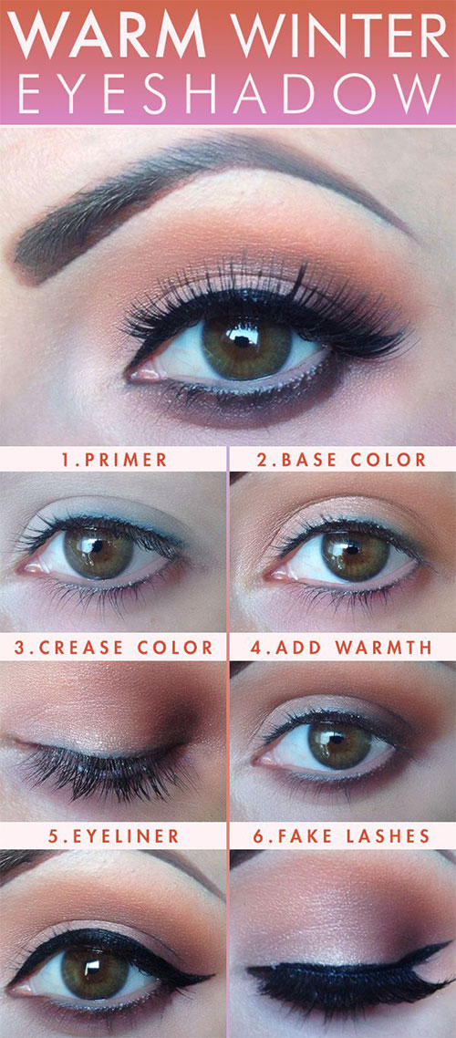 Easy-Step-By-Step-Winter-Make-Up-Tutorials-For-Beginners-Learners-2015-2