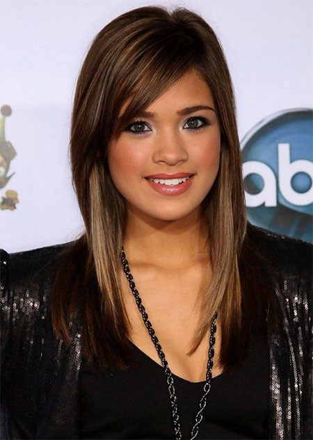15-Modern-Medium-Length-Haircuts-With-Bangs-Layers-For-Thick-Hair-Round-Faces -2015-6