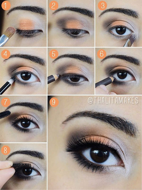 12 easy summer eye make up tutorials f r anf nger und. Black Bedroom Furniture Sets. Home Design Ideas
