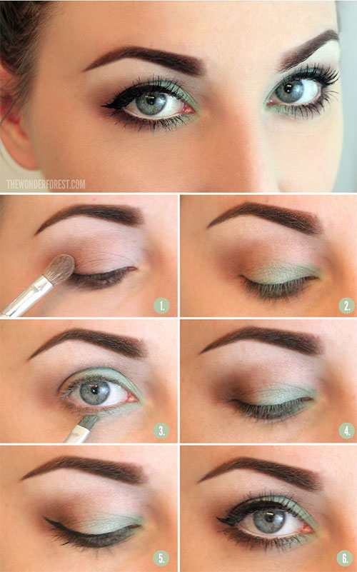 12 Easy Summer Eye Make Up Tutorials For Beginners