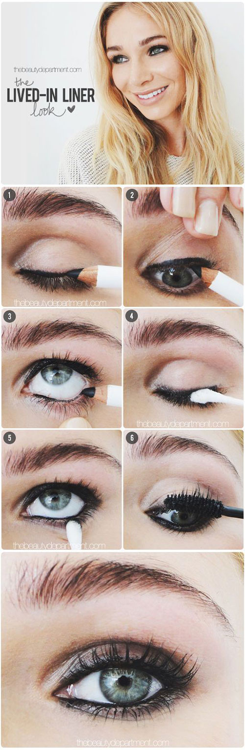 12-Easy-Summer-Eye-Make-Up-Tutorials-For-Beginners-Learners-2015-6