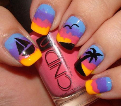 15+ Bright & Pretty Summer Nail Art Designs, Ideas, Trends
