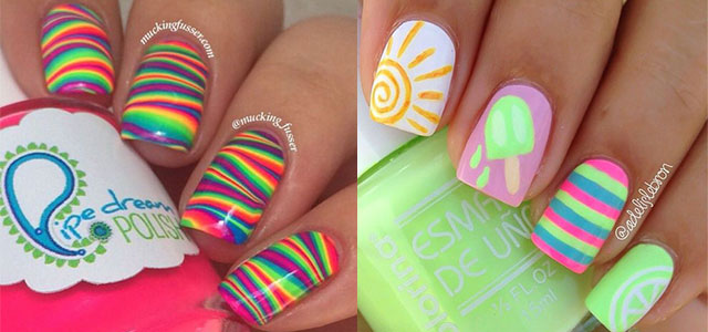Great 15 Bright Pretty Summer Nail Art Designs Ideas