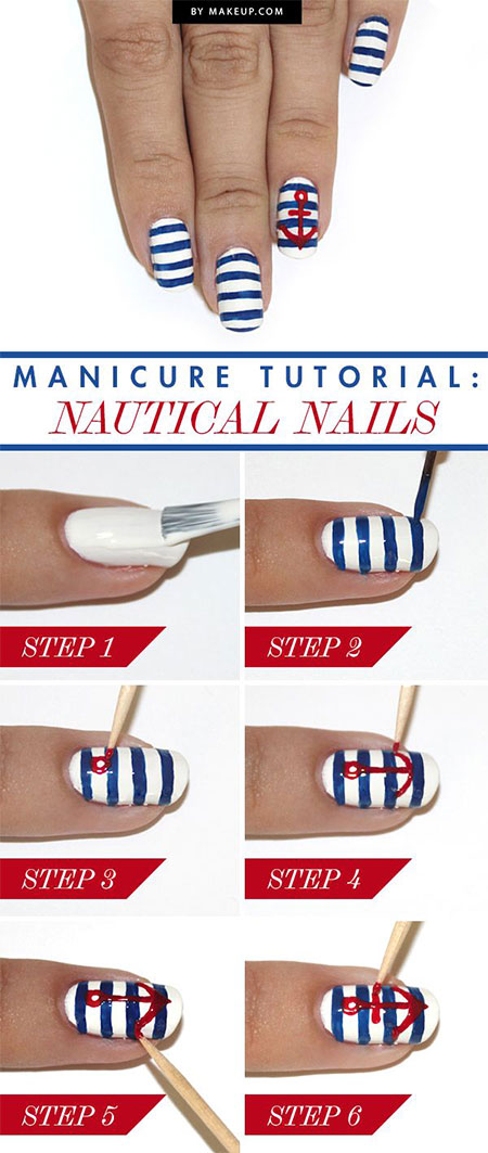 15-Simple-Easy-Summer-Nails-Tutorials-For-Beginners-Learners-2015-10