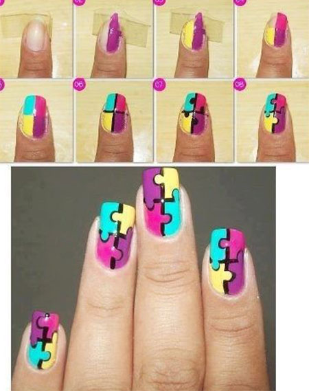 15-Simple-Easy-Summer-Nails-Tutorials-For-Beginners-Learners-2015-14