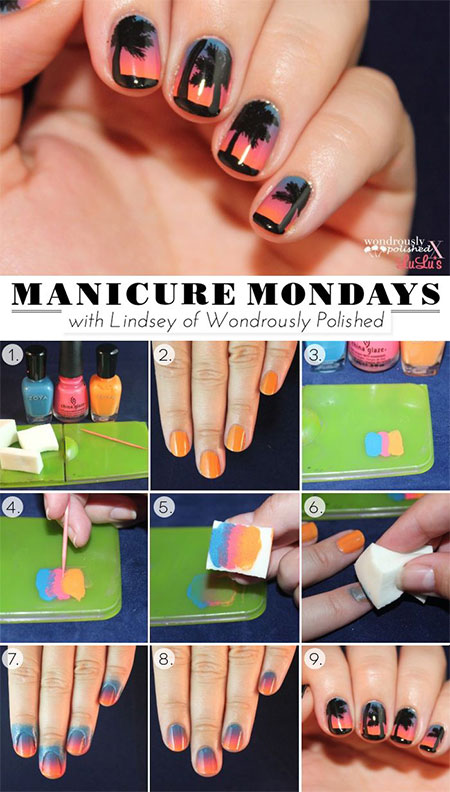 15-Simple-Easy-Summer-Nails-Tutorials-For-Beginners-Learners-2015-2