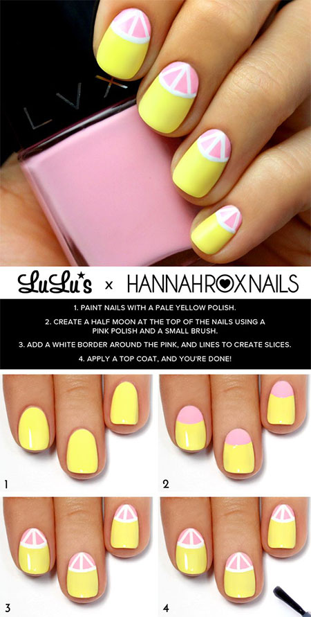 15-Simple-Easy-Summer-Nails-Tutorials-For-Beginners-Learners-2015-4