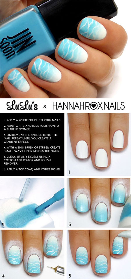 15-Simple-Easy-Summer-Nails-Tutorials-For-Beginners-Learners-2015-5