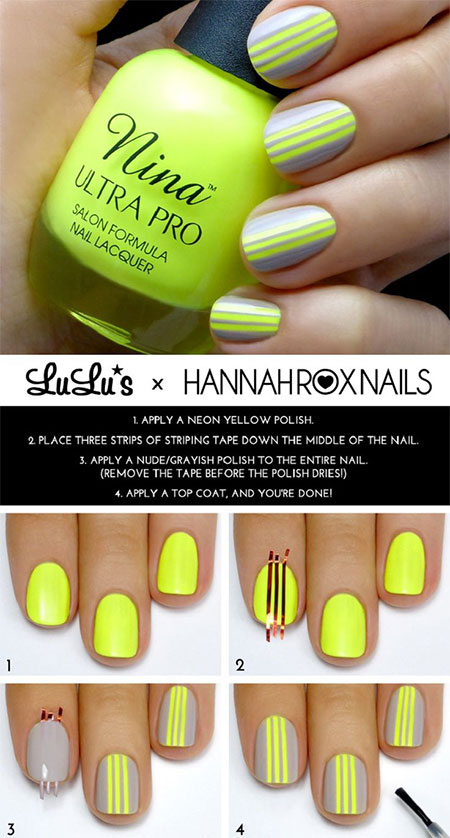 15-Simple-Easy-Summer-Nails-Tutorials-For-Beginners-Learners-2015-6