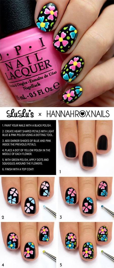 15-Simple-Easy-Summer-Nails-Tutorials-For-Beginners-Learners-2015-7