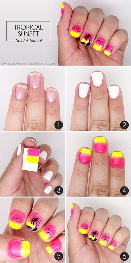 15-Simple-Easy-Summer-Nails-Tutorials-For-Beginners-Learners-2015-9