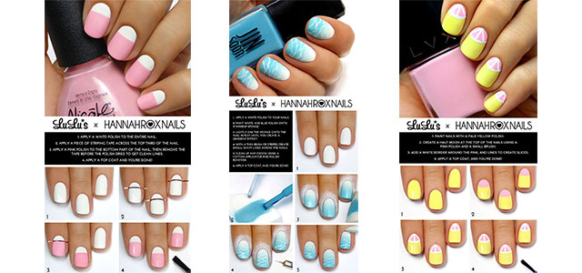 15-Simple-Easy-Summer-Nails-Tutorials-For-Beginners-Learners-2015-F