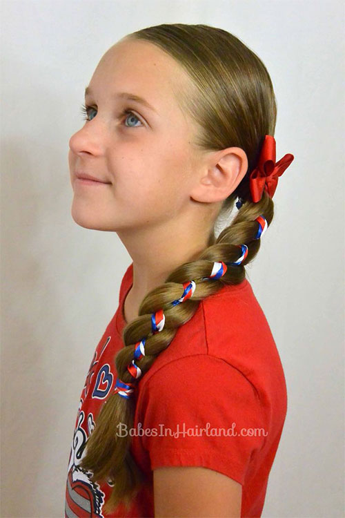 Miraculous 12 Amazing Fourth Of July Hairstyles For Kids Amp Girls 2015 4Th Hairstyle Inspiration Daily Dogsangcom