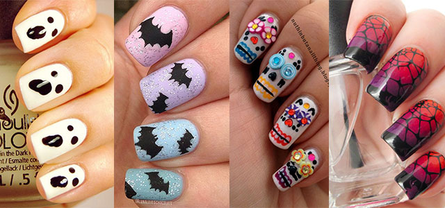 100 halloween nail art designs ideas trends stickers - Halloween Easy Nail Art