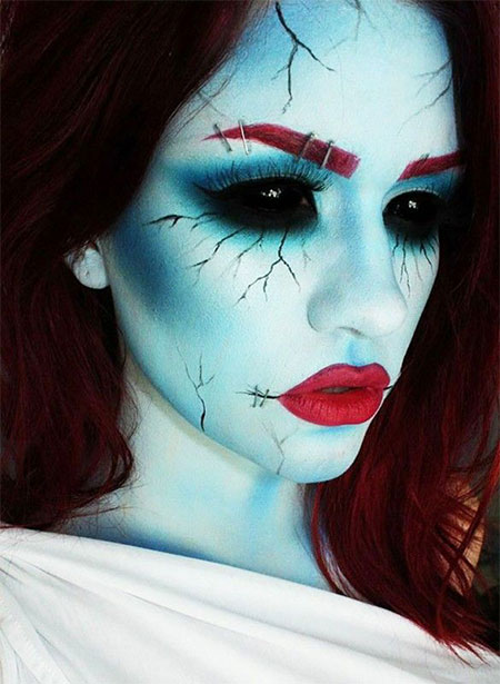 12 scary bride makeup looks ideas for halloween