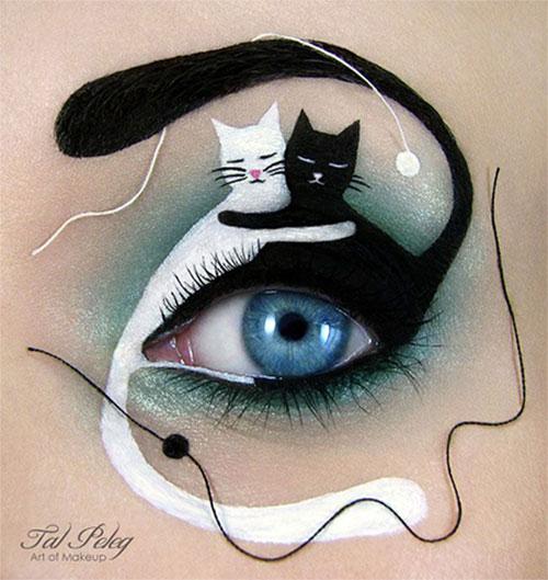 15-Best-Spider-Web-Cat-Bat-Eye-Makeup-Looks-Ideas-For-Halloween-2015-1