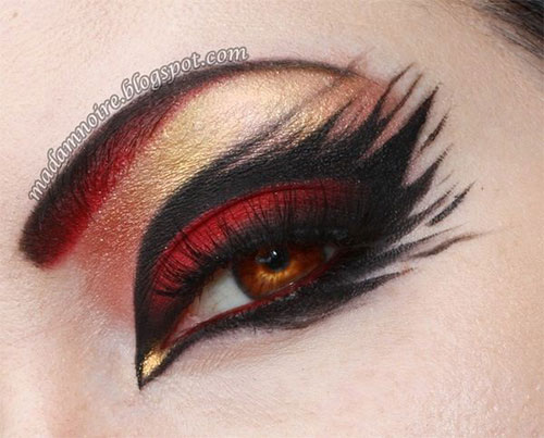 15-Best-Spider-Web-Cat-Bat-Eye-Makeup-Looks-Ideas-For-Halloween-2015-10