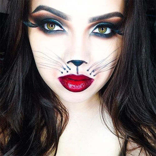 15 Best Spider Web Cat U0026 Bat Eye Makeup Looks U0026 Ideas For Halloween 2015 | Modern Fashion Blog