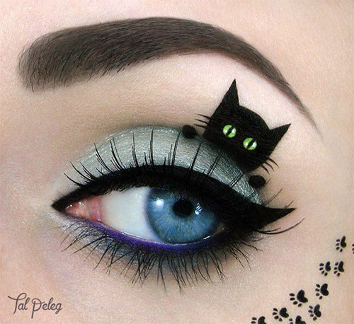 15 Best Spider Web, Cat & Bat Eye Makeup Looks & Ideas For ...