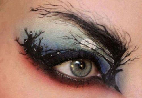 15-Best-Spider-Web-Cat-Bat-Eye-Makeup-Looks-Ideas-For-Halloween-2015-9