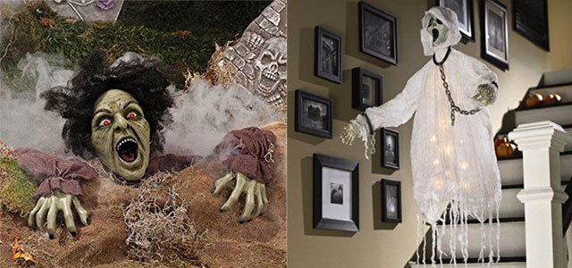 15 cheap home made indoor outdoor halloween decoration - Cheap Halloween Decorating Ideas