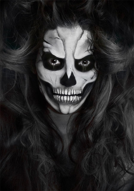 15 scariest halloween skeleton makeup looks ideas 2015 modern fashion blog. Black Bedroom Furniture Sets. Home Design Ideas