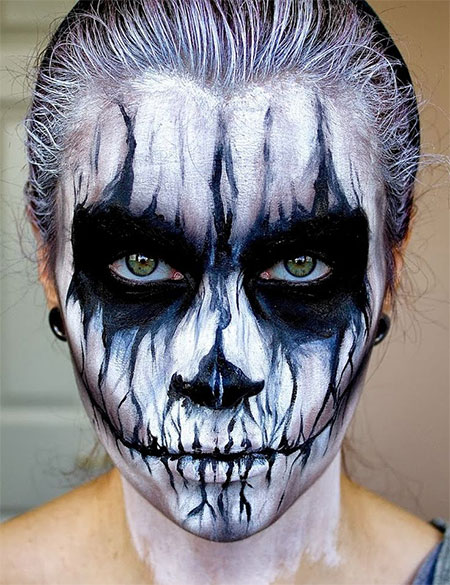 15 Scariest Halloween Skeleton Makeup Looks Ideas 2015 Modern Fashion Blog