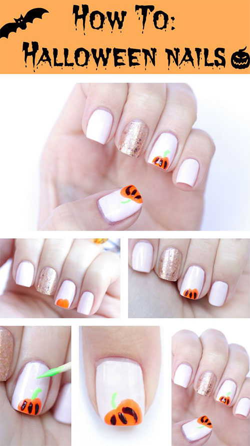 15-Simple-Step-By-Step-Halloween-Nail-Art-Tutorials-2015-For-Beginners-11