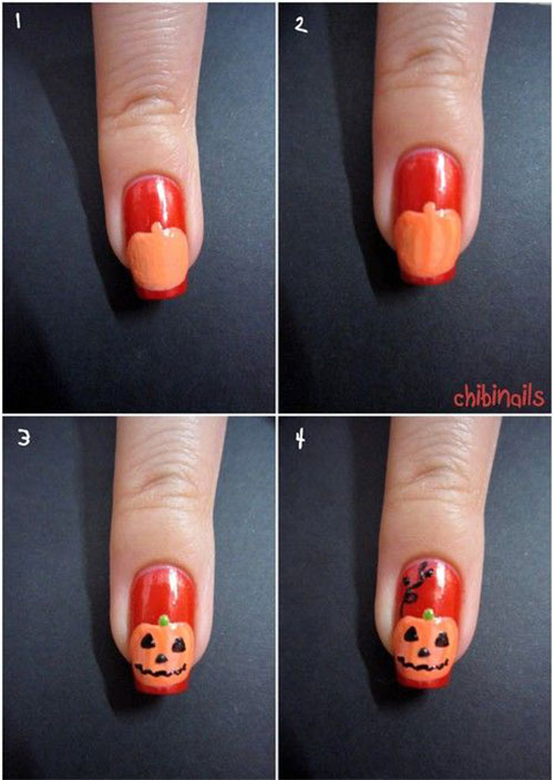 15+ Simple Step By Step Halloween Nail Art Tutorials 2015 For ...