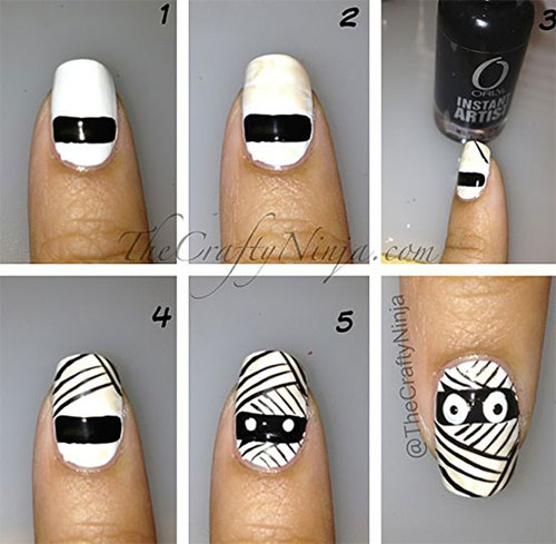 15-Simple-Step-By-Step-Halloween-Nail-Art-Tutorials-2015-For-Beginners-5