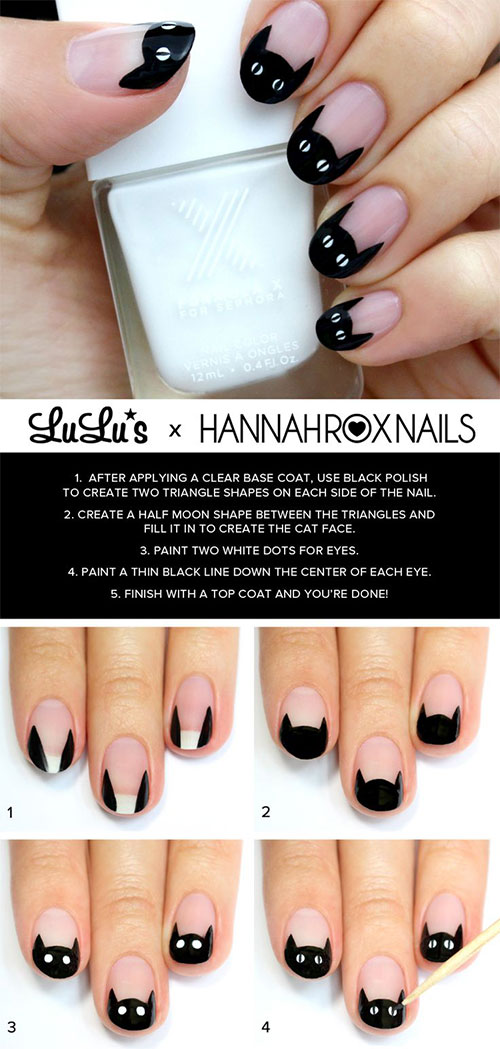 15+ Simple Step By Step Halloween Nail Art Tutorials 2015 ...