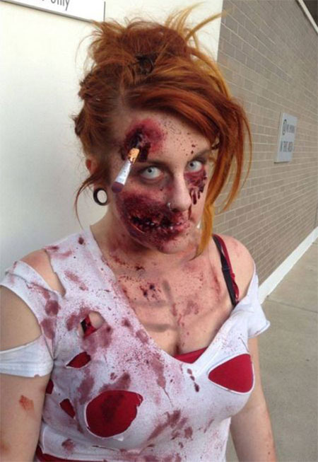 18 Very Scary Zombie Makeup Styles Looks U0026 Ideas 2015 For Halloween | Modern Fashion Blog