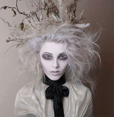 Excellent 20 Crazy Amp Scary Halloween Hairstyle Ideas For Kids Girls Hairstyles For Men Maxibearus