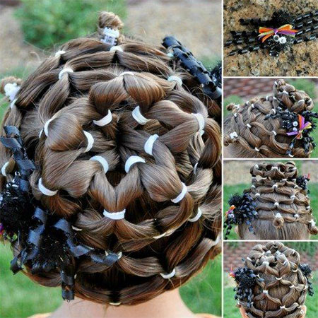 20 crazy  scary halloween hairstyle ideas for kids