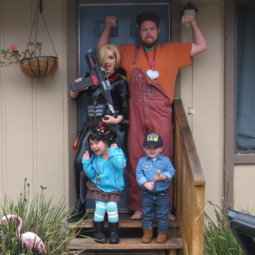 family themed halloween costumes with baby